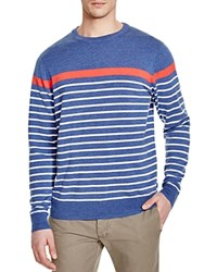 Vineyard Vines Placed Stripe Crewneck Sweater Moonshine