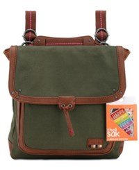The Sak Pacifica Convertible Medium Backpack With Patches A Macy's Exclusive Style Olive Patches