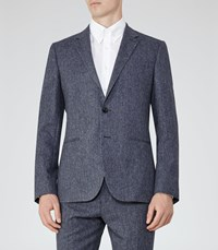 Reiss Tanaka B Mens Notch Lapel Blazer In Blue