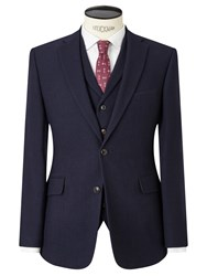 John Lewis And Co. Thurloe Brushed Wool Tailored Suit Jacket Navy