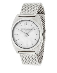 Steve Madden Tribal Dial Stainless Steel Watch Silver