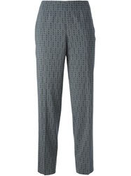 Piazza Sempione Printed Trousers Grey