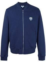 Kenzo Tiger Patch Cardigan Blue