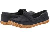 Ugg Amila Navy Leather Women's Moccasin Shoes Blue
