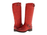 Frye Veronica Slouch Burnt Red Soft Vintage Leather Women's Pull On Boots
