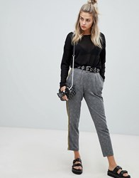 ed81d0d2ca6f Noisy May Check Trouser With Piping Detail Black Check Multi