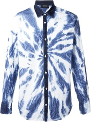 Dsquared2 Tie Dye Shirt White