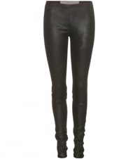 Rick Owens New Simple Leather Leggings Black