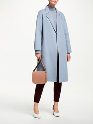 John Lewis Double Faced Revere Collar Coat Sky Blue