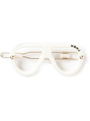 Marc By Marc Jacobs Glass Frames Hair Pin White