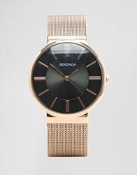 Sekonda Rose Gold Mesh Watch Exclusives To Asos Rose Gold