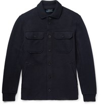 Polo Ralph Lauren Lim Fit Boiled Tretch Wool Blend Jacket Navy