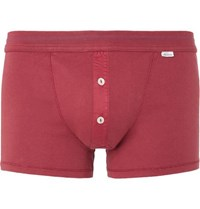 Schiesser Karl Heinz Cotton Jersey Boxer Briefs Red