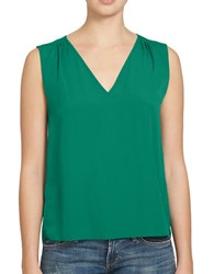 1.State Solid Sleeveless Blouse Green