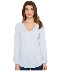 Jag Jeans Peasant Tee In Burnout Jersey Bluebell Women's T Shirt