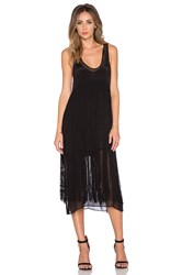 Chloe Oliver Long Fringe Hair Don't Care Dress Black