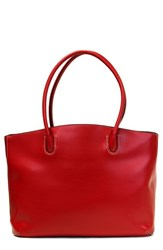 Lodis 'Audrey Milano' Leather Computer Tote Red Red Black