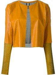 Aviu Aviu Mixed Jacket Yellow And Orange