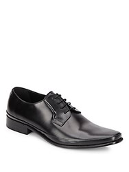 Kenneth Cole Steep Task Leather Derby Shoes Black