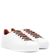 Etro Embossed Leather Sneakers White