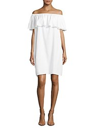 Beach Lunch Lounge Off The Shoulder Dress White
