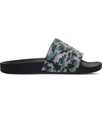 Kg By Kurt Geiger Waikato Camo Patterned Slide Sandals Green