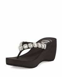 Premium Collection By Yellow Box Josephine Leather Rhinestone Sandal