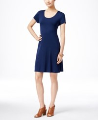 Styleandco. Style And Co. Petite Short Sleeve A Line Dress Only At Macy's Ink