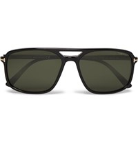 Tom Ford Terry Aviator Style Acetate Sunglasses Black