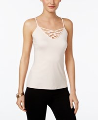 Thalia Sodi Crisscross Camisole Only At Macy's Pearl Blush