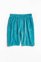 Stussy Piped Velour Short Teal