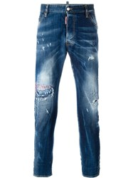 Dsquared2 Classic Kenny Twist Distressed Jeans Blue