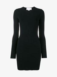 Esteban Cortazar Long Sleeve Dress With Open Back Black