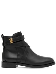 Burberry 20Mm Pryle Leather Ankle Boots Black
