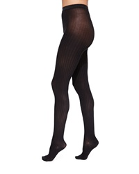 Wolford Fine Cotton Basic Ribbed Tights