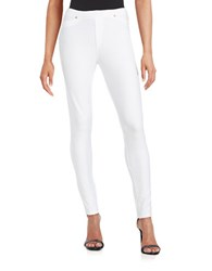 Michael Michael Kors Petite Cotton Stretch Knit Leggings White