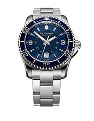 Victorinox Mens Maverick Stainless Steel Watch Silver