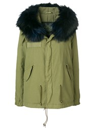 Mr And Mrs Italy Hooded Fur Trim Parka Green