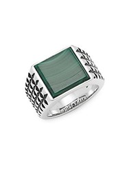 Effy Malachite And Sterling Silver Band Ring