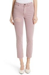 Sandro Ripped Raw Edge Jeans Rose