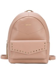 Jimmy Choo Cassie Backpack Pink And Purple