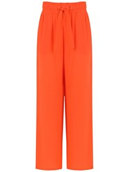 Egrey Silk Palazzo Pants Yellow And Orange