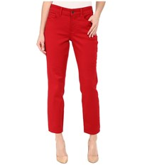 Nydj Nichelle Ankle Sculpting Stretch Cardinal Red Women's Jeans