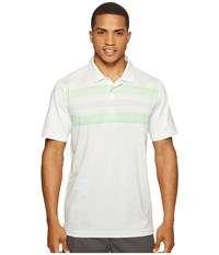 Puma Highlight Stripe Polo Bright White Andean Toucan Men's Short Sleeve Knit