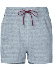 Loveless Striped Drawstring Shorts Grey