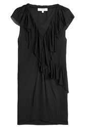 Iro Dress With Ruffles Black