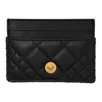Versace Black Quilted Medusa Card Holder