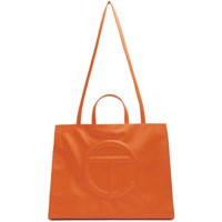 Telfar Ssense Exclusive Orange Large Shopper Tote