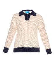 Mih Jeans Nautical Mohair Blend Knit Sweater
