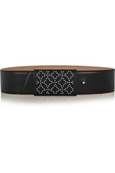Alaia Arabesque Studded Leather Belt